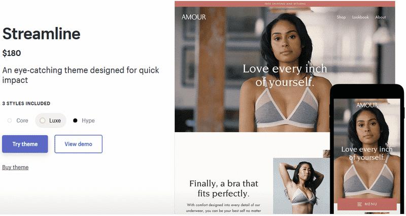 Shopify Streamline Theme Review