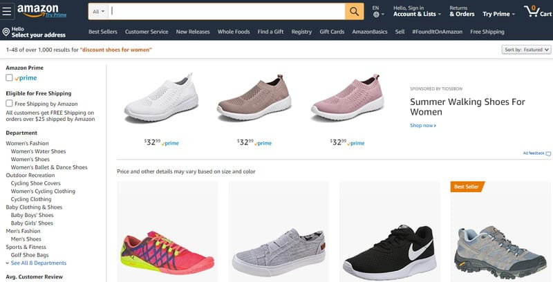 Places To Buy Discount Shoes Online